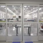 Doors Separating Cleanroom and PreClean Area