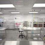 The Cleanroom Packaging Area houses the Aqueous Processing Room and Analysis Lab