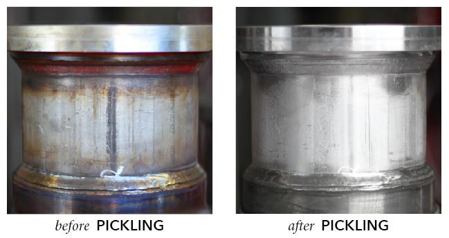 Before and After Photos of Pickling - Astro Pak